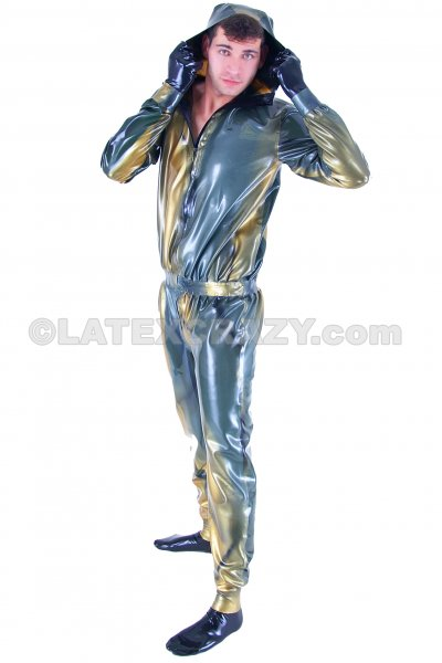 Latex Catsuit With Hood Attached And Effect
