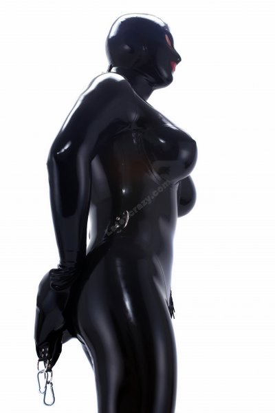 Rubberdoll Latex Catsuit With Silicone Boobs Latexcrazy