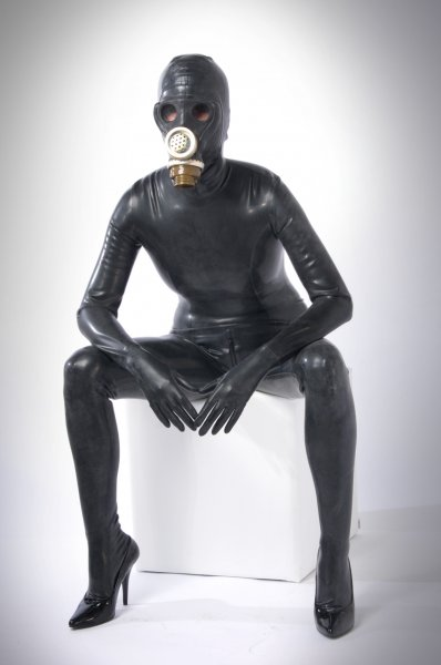 Buy Latex Catsuit With Gas Mask Made To Measure Online