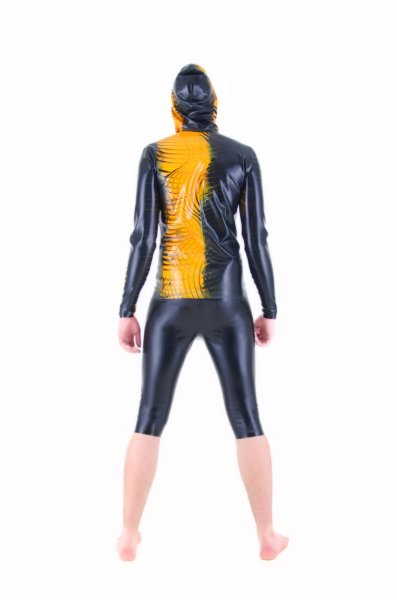 Latex Shirt With Hoodie Made Of Effect Rubber To Your Measures