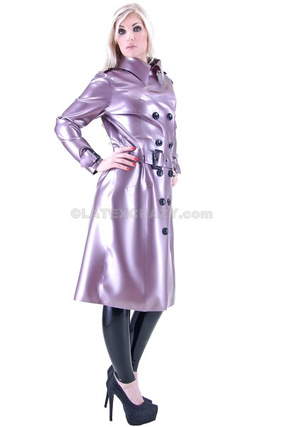 Latex Coat Clara made-to-measure in the shop