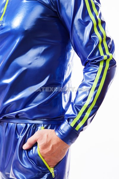 Latex Sweatshirt And Jogging Pants In The Set Available