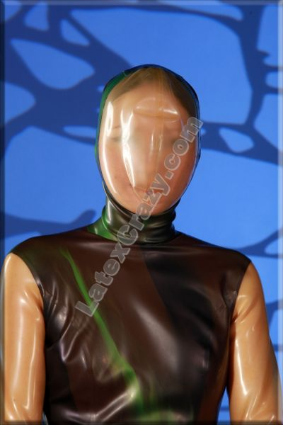 Latex Catsuit With Attached Breathplay Mask