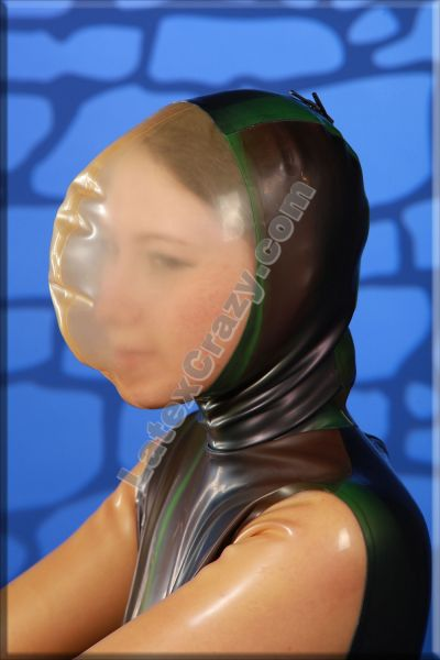 Latex breathing hood