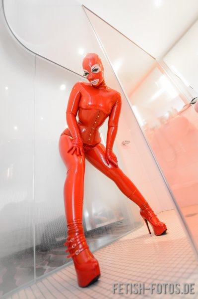 Latex Corset Rubberdoll With Waist Band And Back Lacing