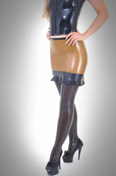 Latex Skirt Mia With Valance Available In The Rubber Store