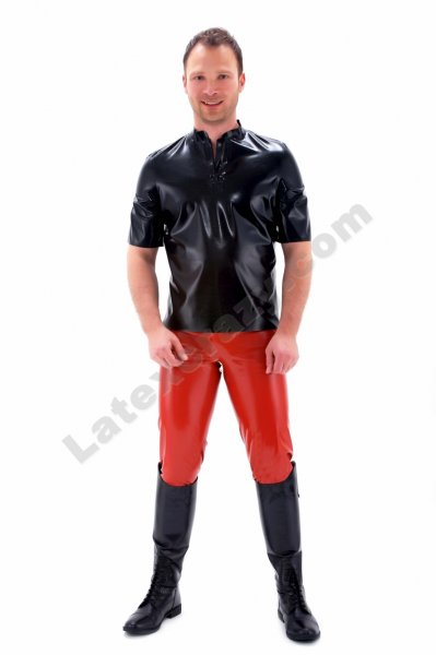 Latex polo shirt tony for man with made to measure tailoring for Tony collar dress shirt